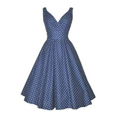 Women's Deep-V Neck Vintage 1920'S Polka Dot Sleeveless Swing Dress ($28) ❤ liked on Polyvore featuring dresses, swing dress, polka dot dress, blue dress, vintage dresses and 20s dresses