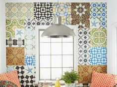 Tiled Wall - A Kitchen With Personality on HGTV