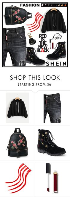 """""""SHEIN"""" by diamond-mara ❤ liked on Polyvore featuring Dsquared2, Urban Expressions, Betsey Johnson and Chanel"""