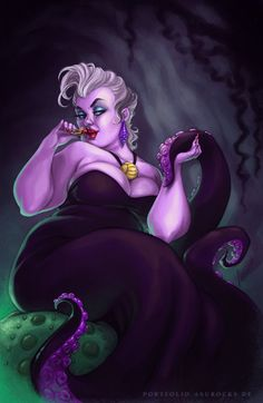 "You Can't Not Look At Ursula From ""The Little Mermaid"" Recreating The Kim Kardashian Butt Photo Ursula Disney, Disney Villains, Disney Pixar, Disney Characters, Evil Villains, Dark Disney, Disney Magic, Disney Fan Art, Disney Love"
