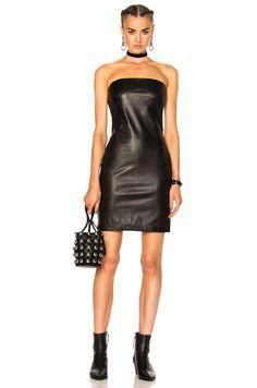 ThePerfext Rita Leather Dress in Black | FWRD