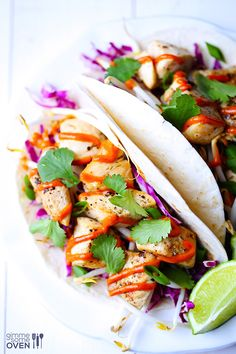 Thai Chicken Tacos