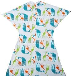 An adorable Lime Green, Turquoise and Orange Giraffe print! Features a soft, cotton blend and a Zipadee-Zip Zipper!