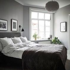 Love this beautiful cosy bedroom via @stadshem  . #interiordesign #interiorstyling #nordichome #nordicinspiration