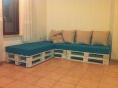 Sofa made of pallets and bad matts. Idea sent by Frane Marasovic !