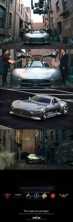 Mercedes-Benz AMG vision gran Turismo, one in the world, specially made for Justice league