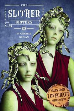 """Seventh-grader Robert Arthur has discovered that two of his classmates are actually sinister snake-women in disguise. Even worse, his new middle school is full of """"gates"""" to a terrifying alternate dimension – a haunted mansion full of strange spirits and monstrous beasts.  For Robert to protect his teachers and classmates, he'll need to return to this haunted dimension with his best friends Glenn and Karina. (Tales from Lovecraft Middle School)"""