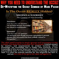 Stillness in the Storm : Why You NEED To Understand the Occult | De-Mystifying the Occult Seminar - The Nature of Sacred Symbolism and Hidden Knowledge by Mark Passio