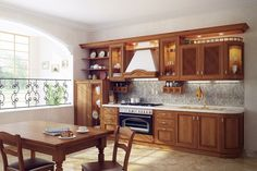 Traditional Space-Saving Kitchen Design #lovely #kitchen #design // #interior #design