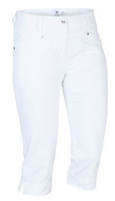 "Need new golf apparel? Daily Sports takes pride in offering women's golf clothing for all shapes and sizes. Buy this White Daily Sports Ladies Lyric 24½"" Golf City Shorts today from Lori's Golf Shoppe!"