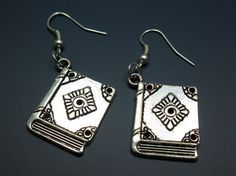 Nerd Book Earrings - bookworm notebook textbook spell book teacher student college university funny earrings funky quirky geek cute nerdy on Etsy, $9.99