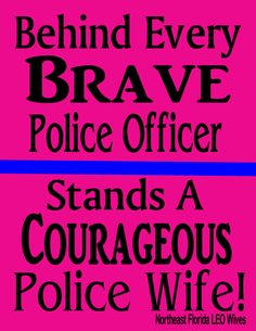 Standing Behind My Police Officer!