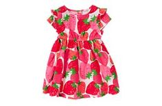 Strawberry Dress - Crazy 8  The only place I tolerate pink: strawberries and watermelons