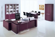 stunning feng shui workplace design. Home Office:Gorgeous Feng Shui Workplace Design With Purple Theme Furniture Set Including Black Swivel Stunning T