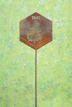 Mark a favorite plant with our Flamed Dill Herb Garden Stake. Featuring beautiful cutout details and a pleasing octagonal profile, this stake heightens interest in your garden whether used alone or with other herb stakes. #GardenStakes #Gardenstake #plantpicks #gardening #gardenlover #gardenart Garden | Gardening | Garden Art | Garden Decor | Garden Stake Metal Garden Art, Metal Art, Nautilus, Quick Garden, Types Of Herbs, Plant Markers, Garden Stakes, Organic Vegetables, Gardening Tips