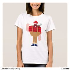 Lumberjack T-Shirt - Fashionable Women's Shirts By Creative Talented Graphic Designers - #shirts #tshirts #fashion #apparel #clothes #clothing #design #designer #fashiondesigner #style #trends #bargain #sale #shopping - Comfy casual and loose fitting long-sleeve heavyweight shirt is stylish and warm addition to anyone's wardrobe - This design is made from 6.0 oz pre-shrunk 100% cotton it wears well on anyone - The garment is double-needle stitched at the bottom and sleeve hems for extra…