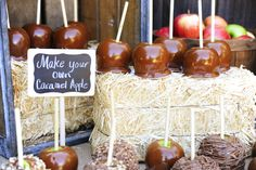 Fall, Harvest, Thanksgiving Caramel Apple Party - Kara's Party Ideas - The Place for All Things Party