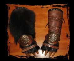 leather bracers bear paws Berserks by Lagueuse.deviantart.com on @deviantART