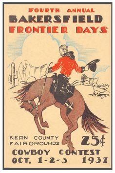 Cowboy Rodeo Poster Bakersfield CA