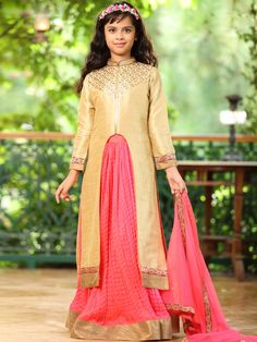 Shop Nice crush pretty pink party wear lehenga choli online from G3fashion India. Brand - G3, Product code - G3-GCS0302, Price - 6695, Color - Beige, Pink, Fabric - Georgette, Raw Silk,