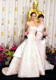 Jennifer Lawrence & Anne Hathaway Two of my favorite actresses!