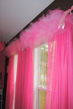 tutu curtains. My granddaughter would love this in her room. She's a tutu girl