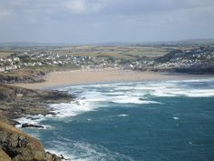 My animation will be a birda eye view of a beach which is meant to be polzeath so might tey and find a way of making it appear like its zooming in. Devon And Cornwall, Cornwall England, North Cornwall, Most Beautiful Beaches, Beautiful Places, Hello Beautiful, Beautiful Scenery, British Beaches, Cornwall Beaches