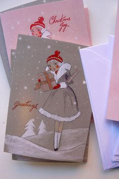 Tell us a bit about yourself I am a Bristol based textile artist and illustrator creating a unique line of dolls,brooches and illustratio. Vintage Christmas Cards, Christmas Diy, Christmas Stuff, Ol Fashion, Paper Place, Textile Artists, Christmas Inspiration, Kitsch, Dolls