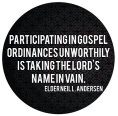 Wow. Never thought of it this way! Neil L. Andersen  Lds general conference 2013