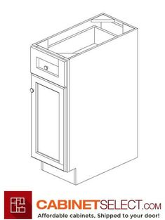 Buy Greystone Shaker Kitchen Cabinets - RTA Cabinets by CabinetSelect Plywood Shelves, Plywood Boxes, Shoe Molding, Base Moulding, Types Of Cabinets, Base Cabinets, Veneer Door, Shaker Kitchen Cabinets, Cabinet Doors