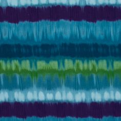 Blue, Green and Purple Tie Dye Rayon Jersey