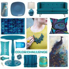 """jewel tones decor"" by popgoesthe on Polyvore"