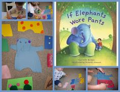 """If Elephants Wore Pants and a """"Paper Doll"""" Elephant Craft"""