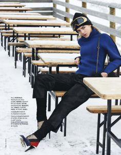 classe de neige: alma durand by steen sundland for elle france n°3498