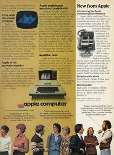 Apple Computer Inc. was established on April 1976 and incorporated on January Apple first started advertising its products i. Apple Newton, Apple Ii, Advertising, Ads, Steve Jobs, Apple Products, Gaming Computer, 1980s, Vintage Ads