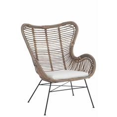 Add natural look to your interior with this high back wicker armchair with seat cushion. Suitable for outdoor. Outdoor Chairs, Outdoor Furniture, Outdoor Decor, Wicker Armchair, Home Living Room, Seat Cushions, Art Deco, Design, Home Decor