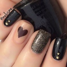 Black Nails #nails #nailart