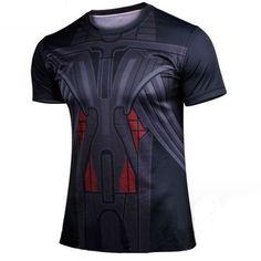 3D Digital Printing Avengers Captain America Quick dry T-shirt