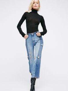 The Patchwork Skinny at Free People Clothing Boutique
