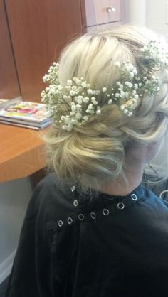 #braids #braidupdo #loose #lowbun #babysbreath #grecian #updo