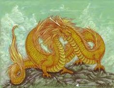 """""""Golden Dragon"""" by Rachel Eve Lachance Jack Tattoo, Year Of The Dragon, Found Art, Diamond Cross, Sci Fi Art, Sewing Crafts, Rooster, Cross Stitch, Arts And Crafts"""