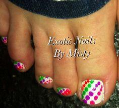 Polka dot toe nail art Pedicure Nail Art, Pedicure Designs, Toe Nail Art, Diy Nails, Love Nails, Pretty Nails, Polka Dot Toes, Exotic Nails, Vacation Nails