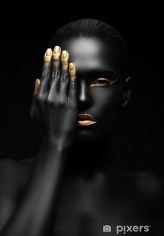 Peinture sur Corps Super creative makeup looks that many of us love. See more ideas about Makeup Black Girl Art, Black Women Art, Black Women Fashion, Black Art, Art Girl, Black Gold, Color Black, African Girl, African Beauty