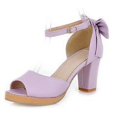 BELLR V Kunstleder Damen Blockabsatz Heels Sandaletten mit bowknot Schuhe (weitere Farben) - http://on-line-kaufen.de/bellr-v/bellr-v-kunstleder-damen-blockabsatz-heels-mit