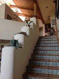 Wood ceilings, skylights and custom tile