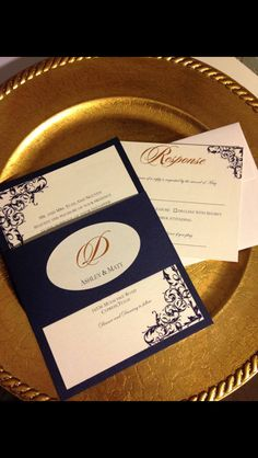 Wedding Invitation layered with belly band and seal.  Custom colors available!  For pricing contact info@theinviteonline.com