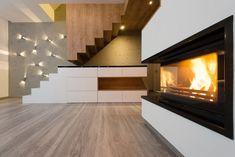 Interior Beautiful Modern Living Room Fireplace Stock Photo (Edit Now) 282286721 Engineered Oak Flooring, Maple Flooring, Hardwood Floors, Brindille, Wood Look Tile, Modern Style Homes, Interior Decorating, Interior Design, Living Room With Fireplace