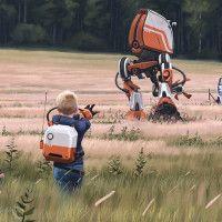 Pinturas mostram uma Suécia de ficção científica