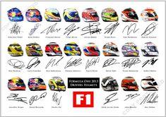 F1 Helmets 2013