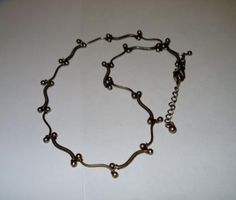 "Vintage Sterling Silver .925 ""S"" Link Necklace - FREE Shipping!"